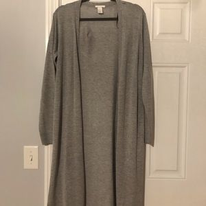 NWOT long grey cardigan sweater perfect for fall